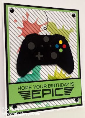 Made for Making Cards Magazine using MFT Game Controller Die-namics & Level Up Stamps