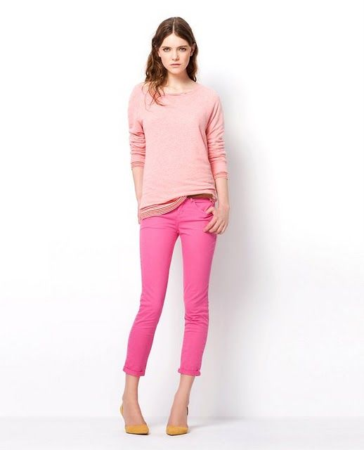 Desperately Needing Some Bright Colored Pants Find This Pin And More On Monochromatic Color Scheme Outfits