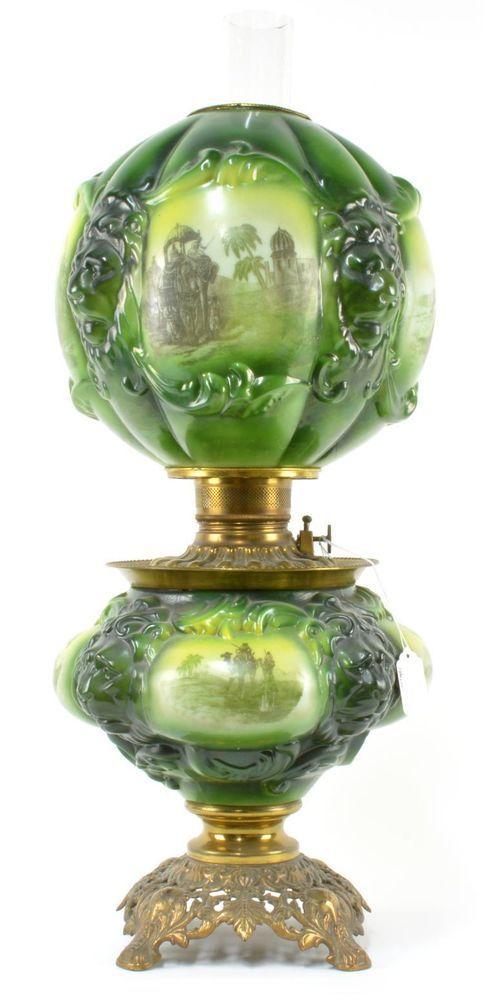 Rare Antique GWTW Consolidated Safari Oil Lamp Original African Safari