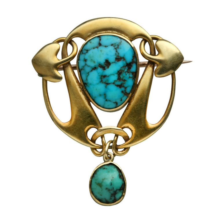 Liberty & Co Art Nouveau Brooch designed by Archibald Knox.