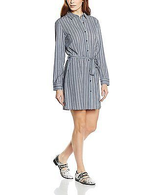 12, Blue (Navy And White Stripe), Unique 21 Women's Erica Long Sleeve Dress NEW