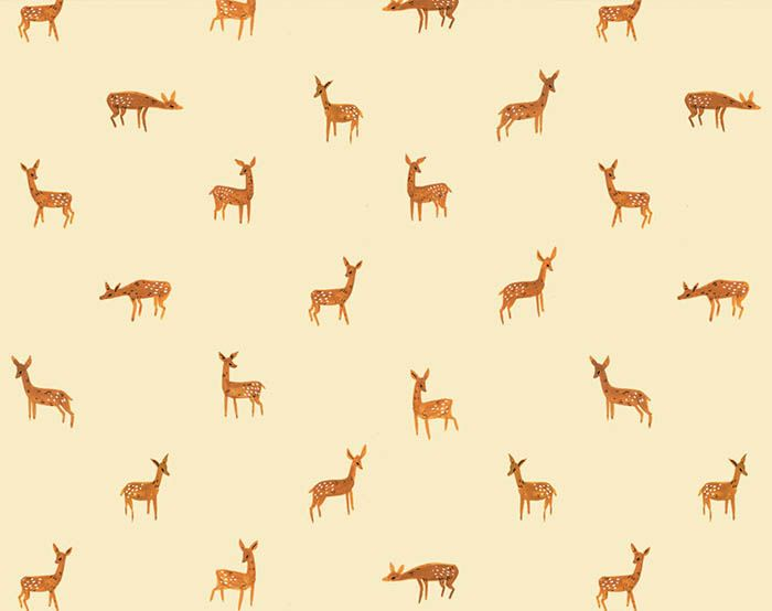 Free fawn pattern download from Kelsey Oseid at Design*Sponge