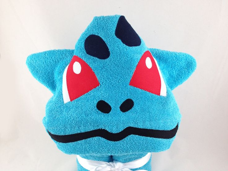 Pokemon Bulbasaur Hooded Towel - Pokemon Gifts - Birthday Gifts for Boys - Bulbasaur Pokemon Towel - Pokemon Cosplay - Pokemon Beach Towel by CountryStitched on Etsy