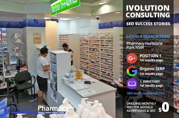 SEO Success Stories. Online Marketing Adelaide. SEO Success Stories - Online Marketing Adelaide. This pharmacy achieved excellent first page ranking for its 'pharmacy hurlstone park' search term.