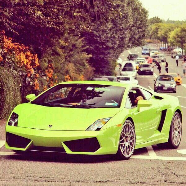 Lime green Lamborghini cars i want Pinterest