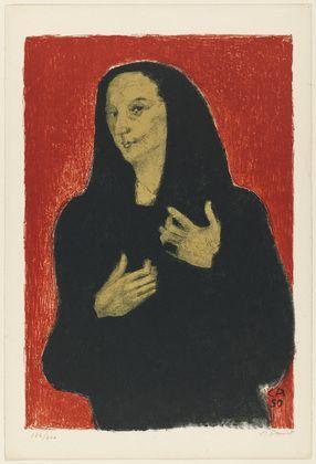 Cuno Amiet. Portrait of Germaine Richier. 1950