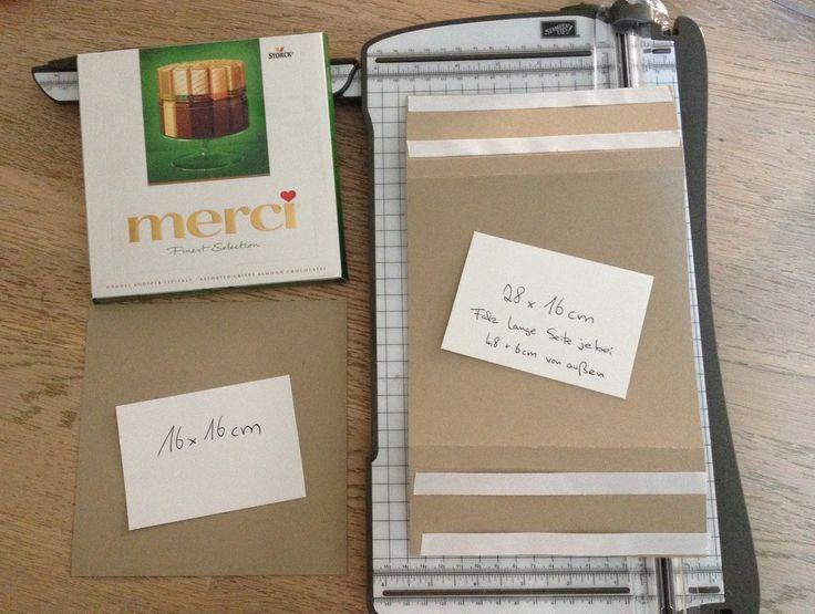 Stempellicht: Anleitung für Merci - Verpackung