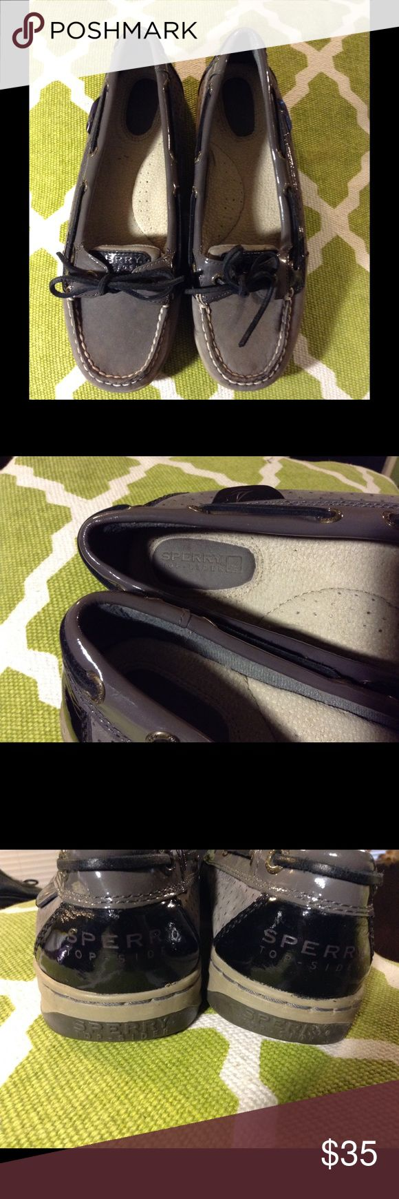 Grey/Black Sperry Top-siders Great casual shoes! Gently worn and super adorable. Sperry Top-Sider Shoes Flats & Loafers