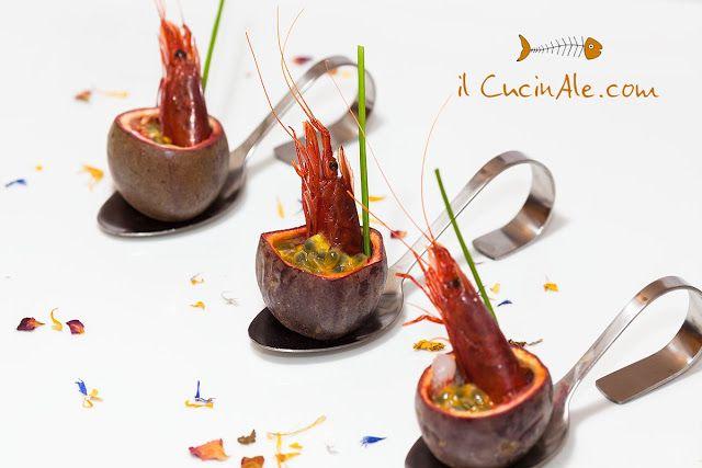 Gambero rosso marinato al passion fruit