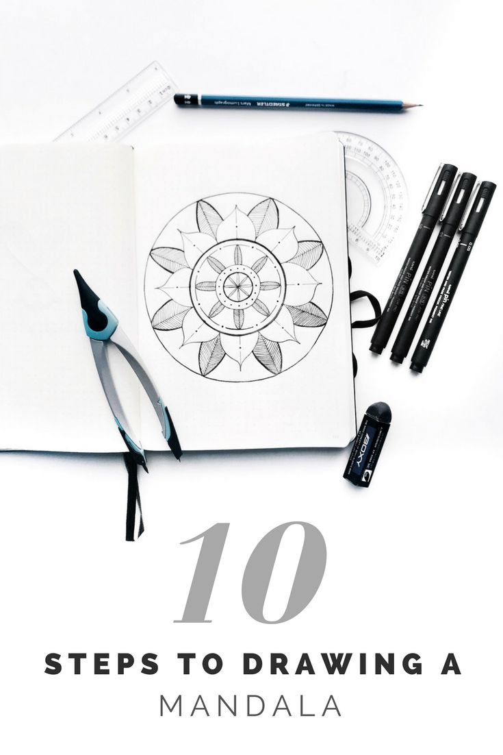 How to draw a mandala in 10 easy steps