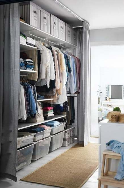 30 Trendy Small Bedroom Closet Storage Clothes Dressing Rooms