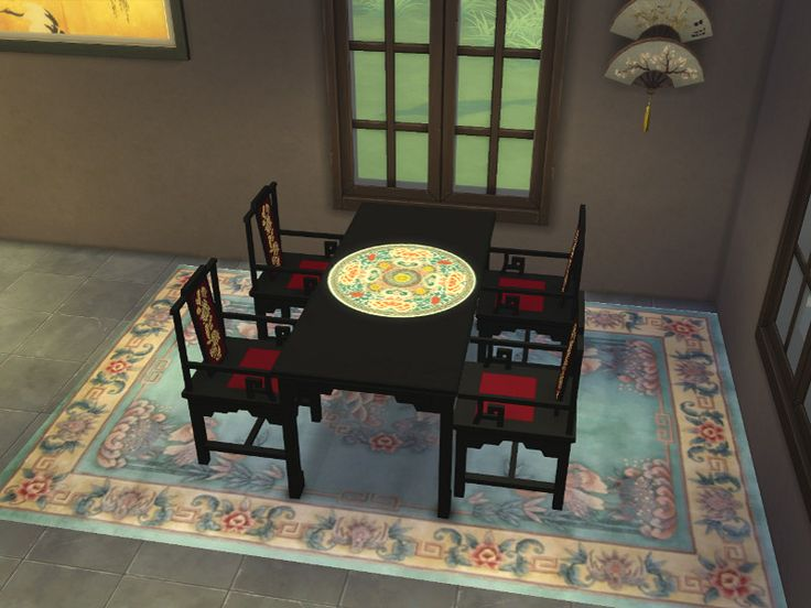 Asian Dining Furniture A Sims 3 To Sims 4 Conversion Plus Some