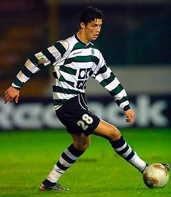 Cristiano Ronaldo at Sporting Clube de Portugal (professional start 2001-2003)