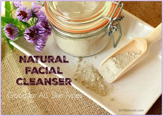 """This homemade face wash is an all-natural powder made of """"cleansing grains"""": grains, blended up with a few other ingredients to make an amazing facial cleanser."""