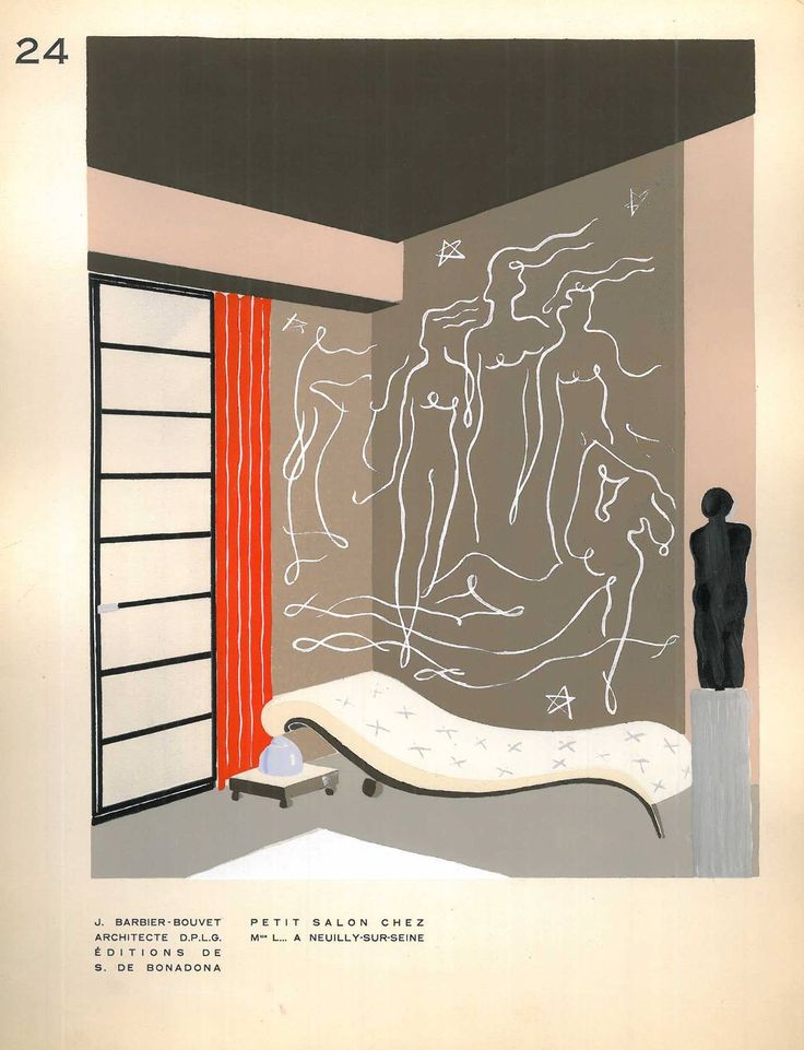 Decoration Moderne Dans L'Interieur | From a unique collection of antique and modern books at https://www.1stdibs.com/furniture/more-furniture-collectibles/books/