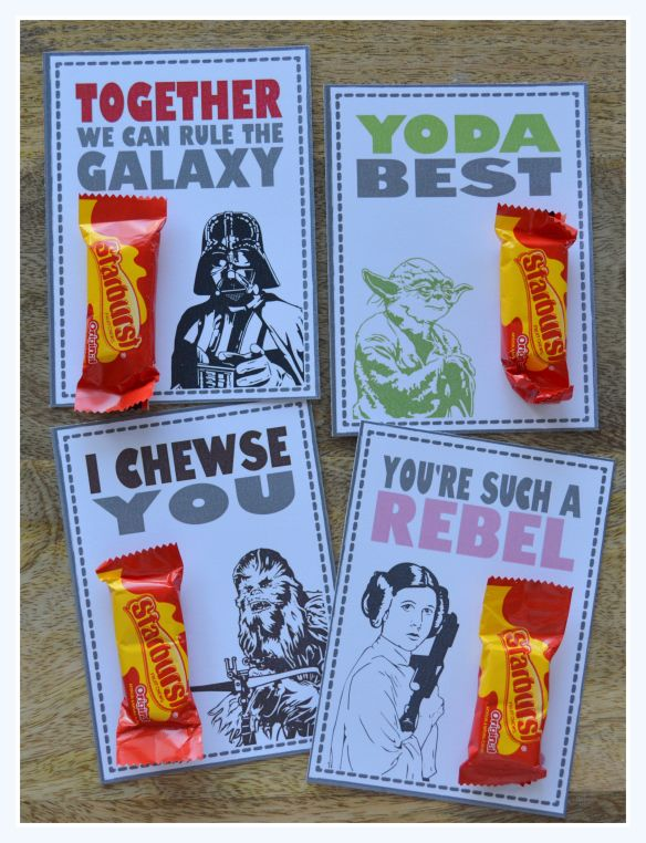Star Wars Valentines with Starburst Candy | Free Printable File at pasticheevents.com