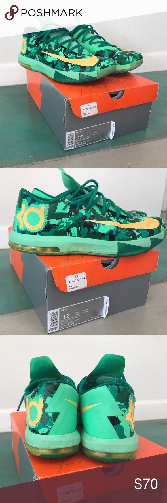 "NIKE KD VI ""EASTER"" 7/10 CONDITION Nike Kd VI ""Easter"" colorway. 7/10 Condition, 100% authentic with original box. Nike Shoes Sneakers"