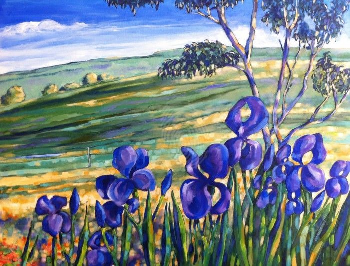 Iris's at Duramana by Frank Martin. Paintings for Sale. Bluethumb - Online Art Gallery