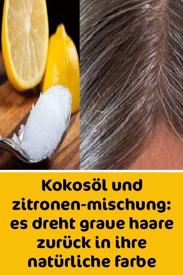 Coconut Oil And Lemon Mixture Gray Hair Regains Its Natural Color