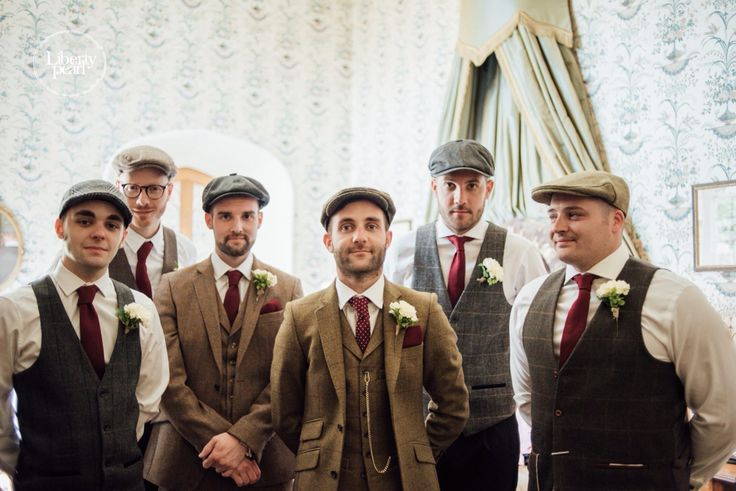 Vintage country themed wedding in a castle, vintage tea wedding dress, tweed groomsmen suits, bridesmaids dresses Asos, traditional wedding, London bride, Bristol wedding photographer, English wedding, Thornbury Castle, old school, groomsmen, groom