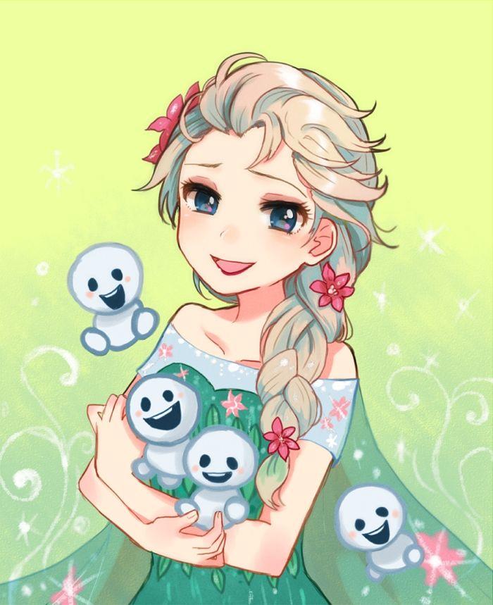 """Elsa from """"Frozen"""" - Art by 小倉"""