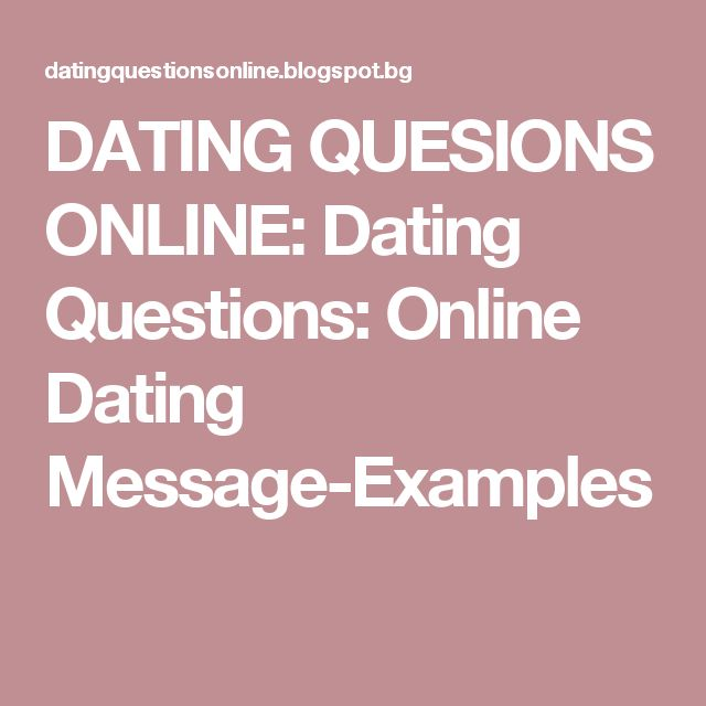 Sample online dating message