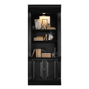 86H Five Shelf Bookcase with Doors #blackbookcase | National Business Furniture