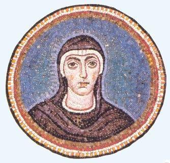 Cappella del Palazzo Arcivescovile, Ravenna. Mosaici della fine del V - inizio del VI secolo. Periodo teodoriciano, SANTA FELICITA