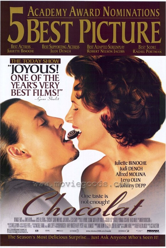 Sweet Chocolat --joyous is a great description of this film.