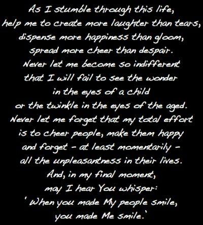 The clowns prayer