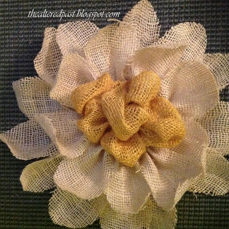 1000 images about making flowers on pinterest for Burlap flower template