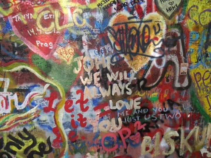 The John Lennon wall, Prague.