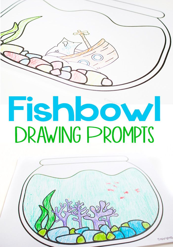 free printable fishbowl drawing prompts - One Fish Two Fish Red Fish Blue Fish Coloring Pages