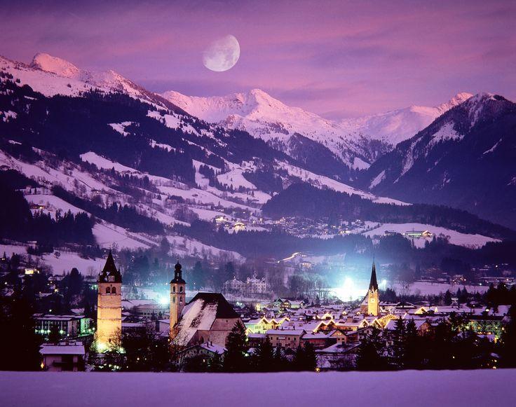 Beautiful skies over Kitzbuhel, Austria. Photo credit TUI #skican #ski #snowboard #Europe #austria