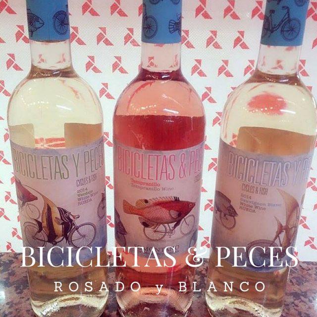 Bicicletas y Peces. Deliciosos vinos verdejo, rosado y sauvignon blanc en la Charcutería  #spanish #wine #verdejo #rose #white #delicatessen #gourmet #mallorca #palma