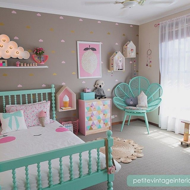 Habitacion de ni a recamaras pinterest kawaii color for Decoracion de recamaras vintage