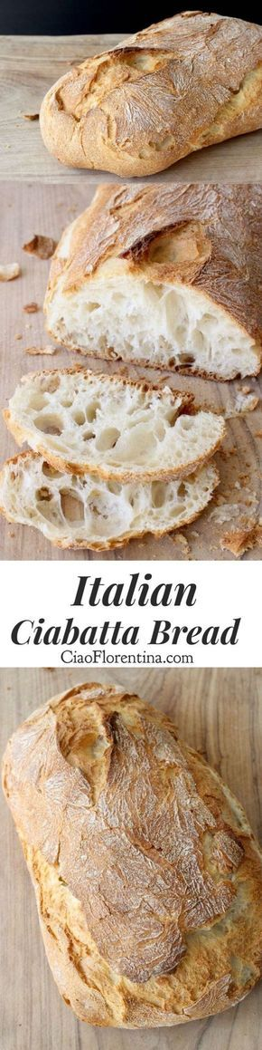 Italian Ciabatta Bread Recipe or Slipper Bread from the Veneto, made with an overnight started and cooked on a pizza stone | CiaoFlorentina.com @CiaoFlorentina