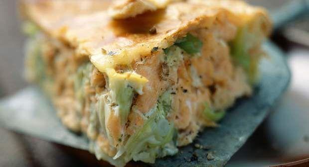 Tourte saumon poireauAllez... avouez, vous avez envie de planter votre fourchette dans cette tourte saumon poireau