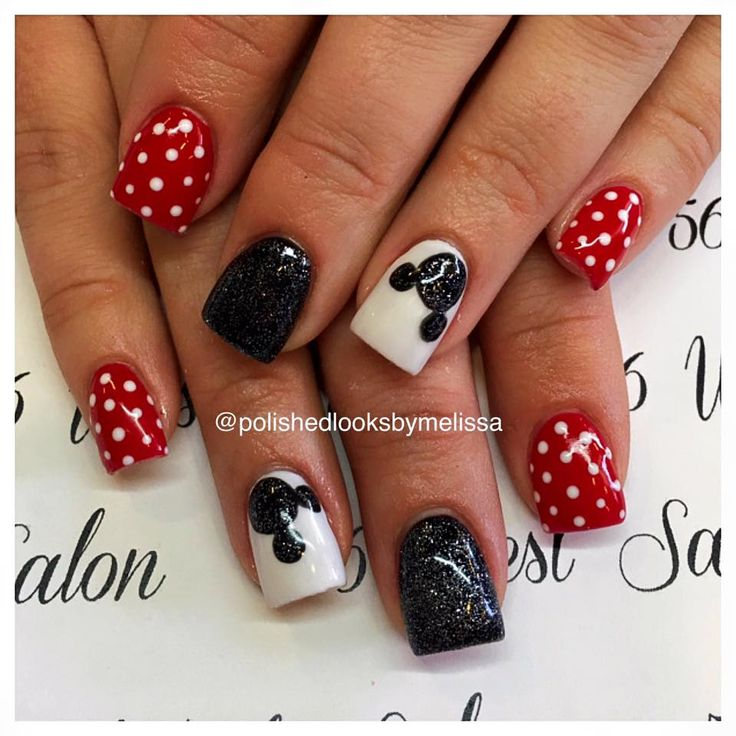 Disney Nail Art // Polished Looks By Melissa: Mickey Mouse | { My Work }  Valentines Nails | Pinterest | Disney nails art, Disney nails and Mickey  mouse - Disney Nail Art // Polished Looks By Melissa: Mickey Mouse { My