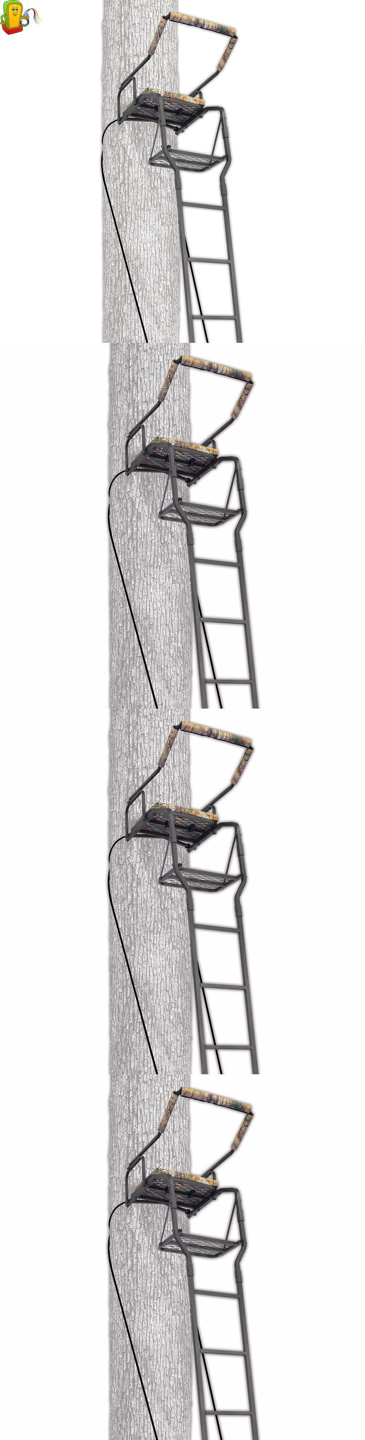 Tree Stands 52508: Deer Hunting Ladder Rifle Tree Stand Sniper Bow Treestand Man Climbing New -> BUY IT NOW ONLY: $98.7 on eBay!