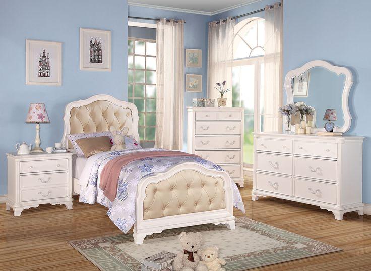 Ira White Finish Twin Bed 30145t