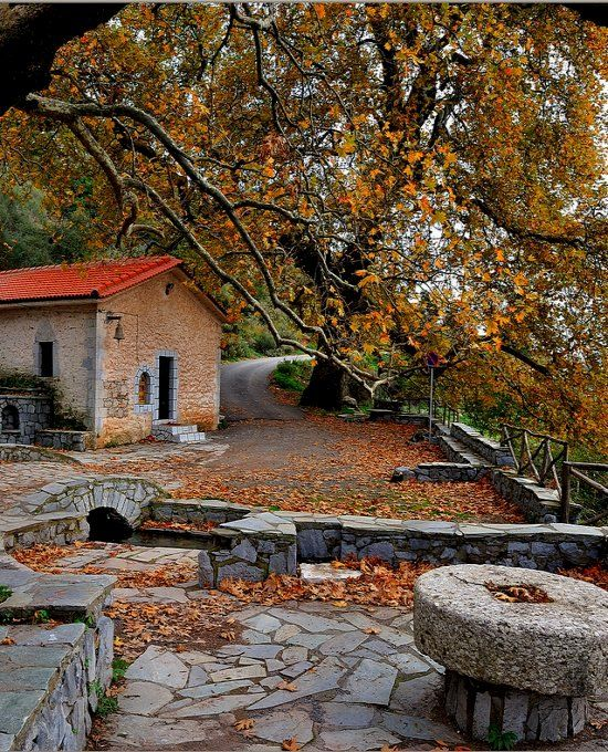 Autumn colors.. Dimitsana, Arcadia, Greece | Flickr - Photo by Vasilis.