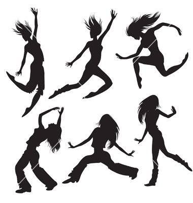 Modern dancers silhouette vector 118552 - by kynata on VectorStock®