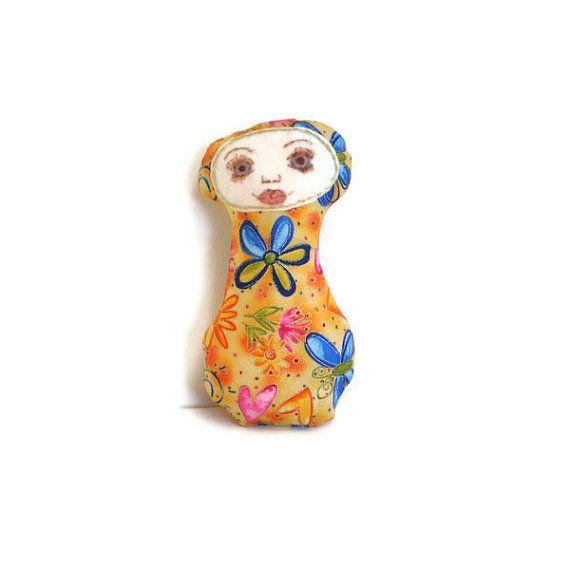 Art Doll Friendship Doll Hearts Butterflies by MissTreeCreations, $15.00