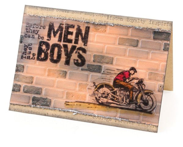 MT431 Vintage Motorbike Card