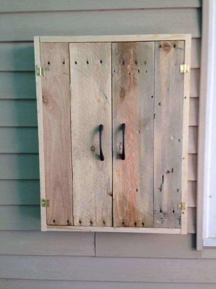 Bbq utensil cabinet made from pallets our home projects - Grill utensil storage ideas ...