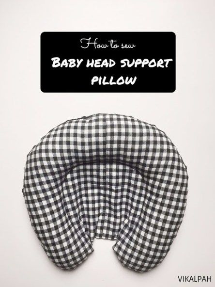 Tutorial and pattern: Baby car seat head support pillow
