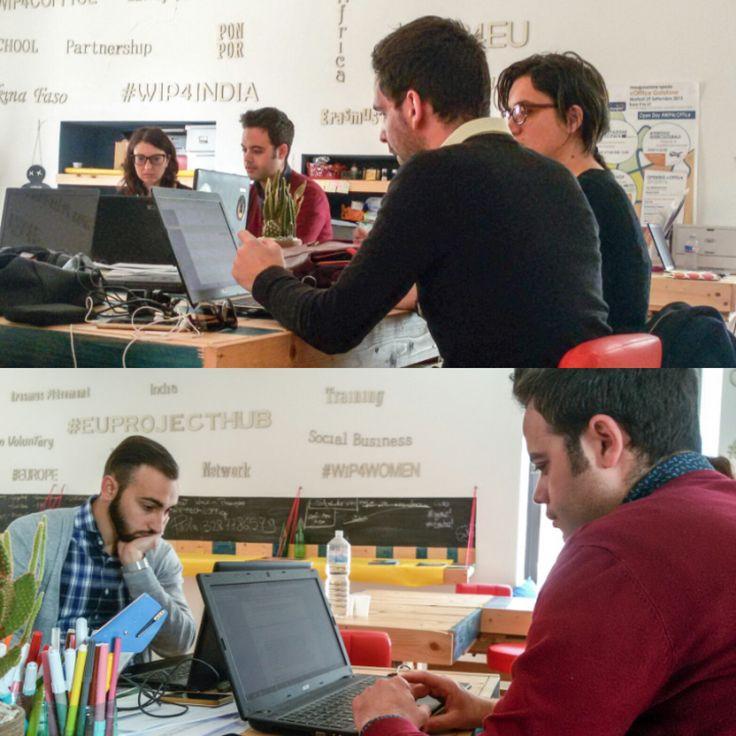 Ultimo appuntamento all'Hub di Progettazione.  Abbiamo deciso di anticipare l'abituale incontro del martedì per concludere le ultime attività e fare un bilancio complessivo del trimestre appena trascorso, insieme ai nostri hubbers. #EuProjectHub #WIP4EU #hub #project #work