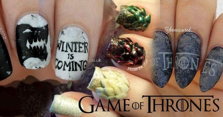 Game of Thrones Σχέδια Νυχιών -Winter is Coming..
