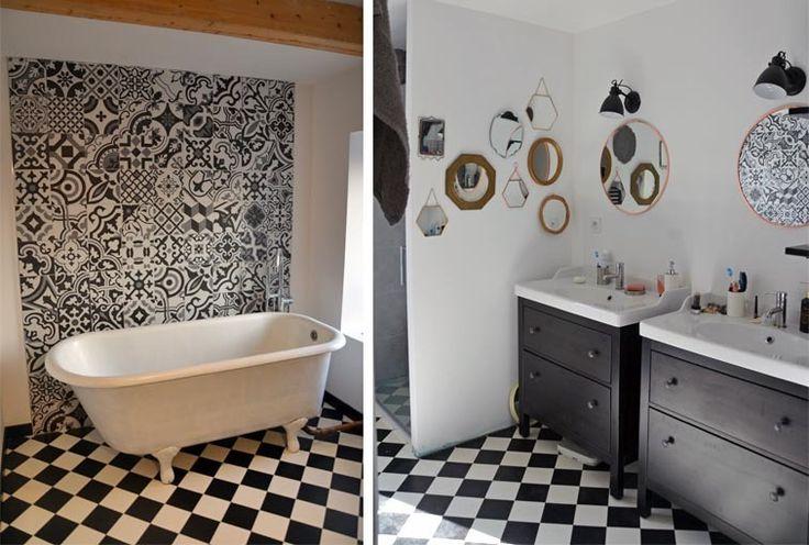les 25 meilleures id es de la cat gorie sol en damier sur. Black Bedroom Furniture Sets. Home Design Ideas